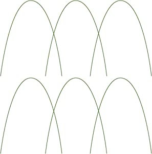 WDDH 12Pcs Greenhouse Support Hoops, 4Ft Bendable Garden Support Stakes, Rust-Free Grow Tunnel Hoops, Long Steel with Plastic Coated Hoops for Garden Fabric Support