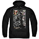 Trevco Batman Aa-Running The Asylum - Adult Pull-Over Hoodie - Black, 2X