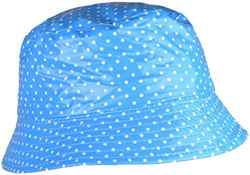 WDSKY Waterproof Rain Hat Dots Blue Hats For Women Outdoor Hats Rain Bucket (Patent Rain Hat)