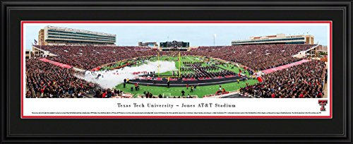 Texas Tech Football - Blakeway Panoramas College Sports Posters with Deluxe Frame (Raiders Red Football Tech Mat)