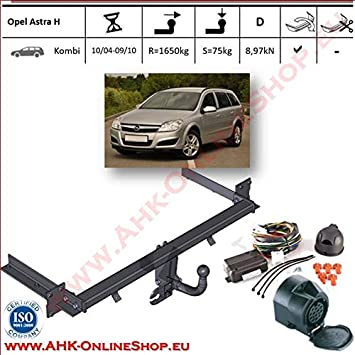 AHK Towbar 13 Pin Wiring Kit For Vauxhall Astra III H 20042009