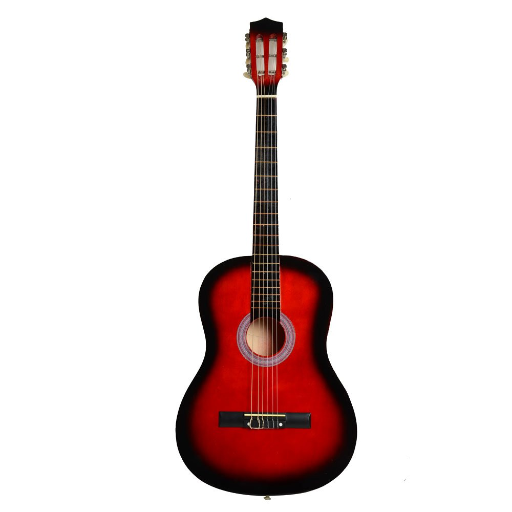 MCH 38 Inch Classic String Acoustic Guitar Starter Package, Guitar with Accessories( Pick & Strings) (Red) CF-Y3RW-D4U6