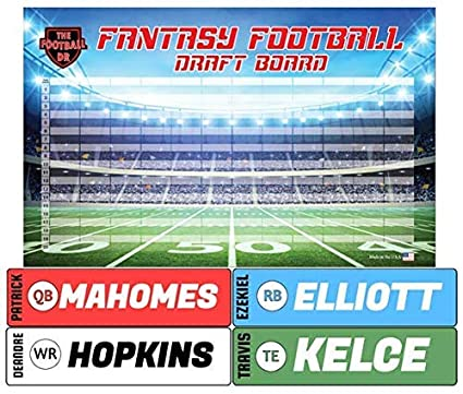 c95544d3 Amazon.com : Fantasy Football Draft Board 2019 Kit - Basic Big Labels & Big  Draft Board : Sports & Outdoors
