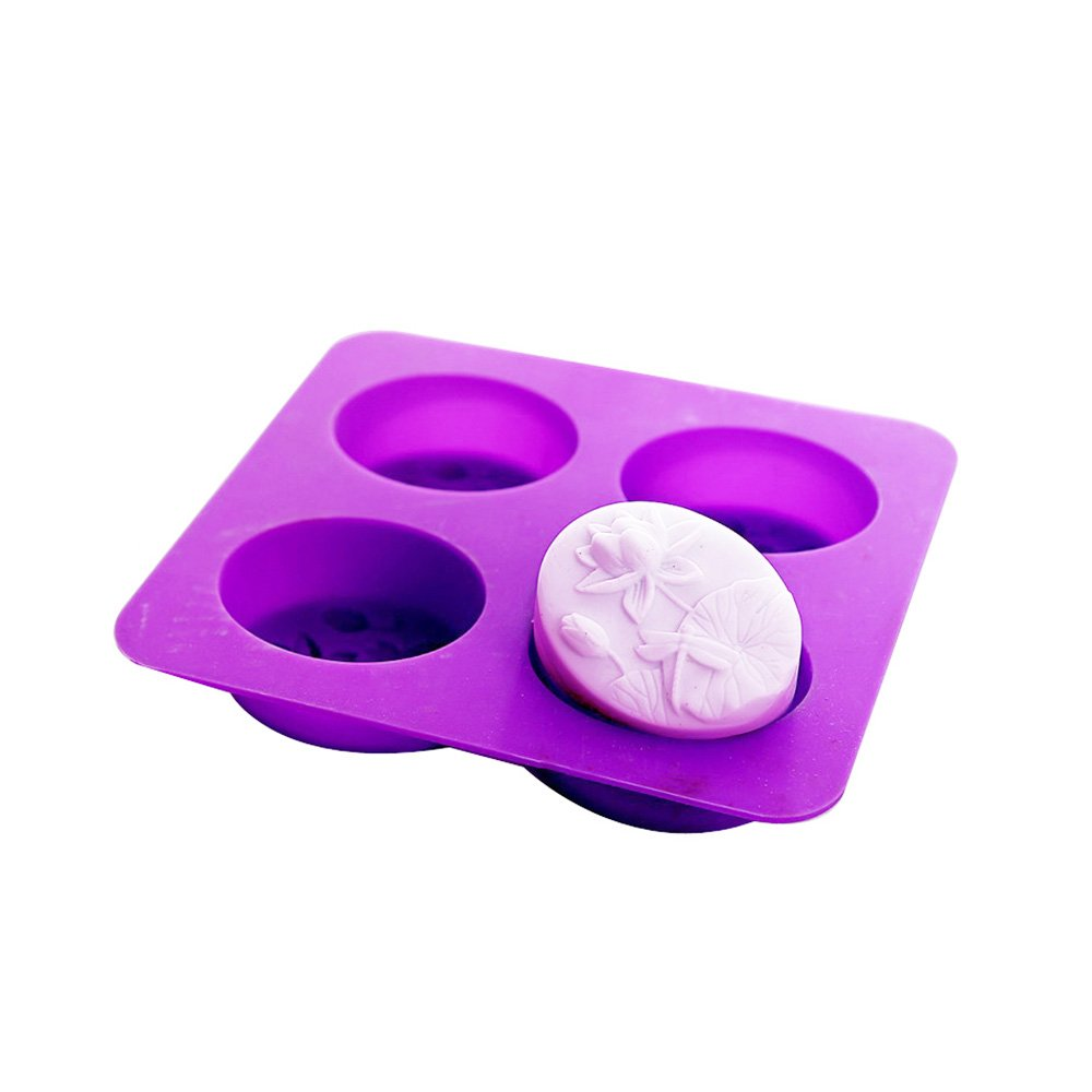 X-Haibei Dragonfly Lotus Flower Oval Silicone Molds for Soap Cold Process Making Supply