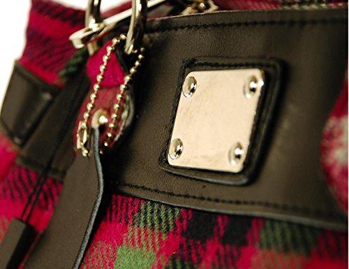 Ladies Metal Plate Wool Bag 'Eva' Deby Check Tartan Design