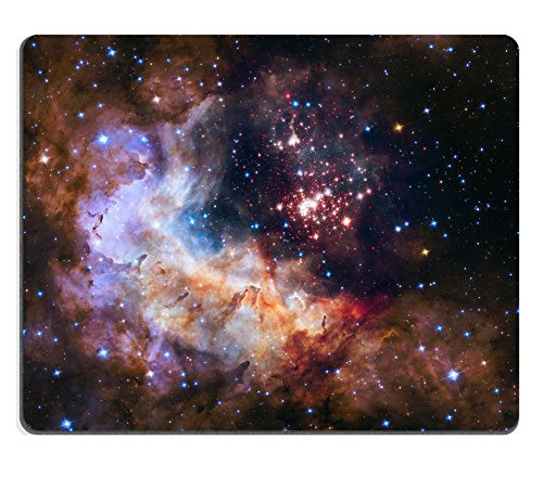 - MSD Mouse Pad Unique Custom Printed Mousepad Universe Galaxy Nebula Star Space Stitched Edge Non-Slip Rubber 9.8x7.9-Inch