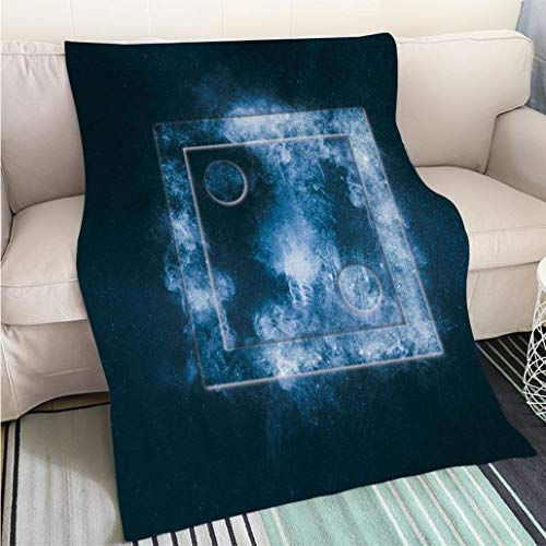 BEICICI Super Soft Flannel Thicken Blanket Dice Two at top Abstract Night Sky Background Fashion Ultra Cozy Flannel Blanket - Dice Fuzzy 2