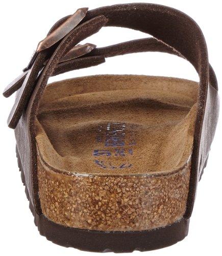 Birkenstock Womens Arizona Sandalo In Morbida Suola Con 2 Cinghie E Sandalo Marrone