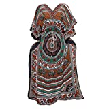 Women's Bohemian KAFTAN Dress Animal Print Cover Up Beach Caftan One Size