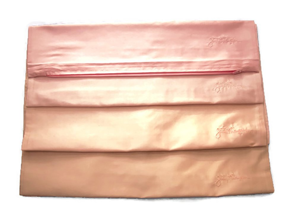 - Jim Thompson - Set of 4 100% Thai Silk Square Sofa Cushion Pillow Cover / Case for Home Decoration - Shades of Pink