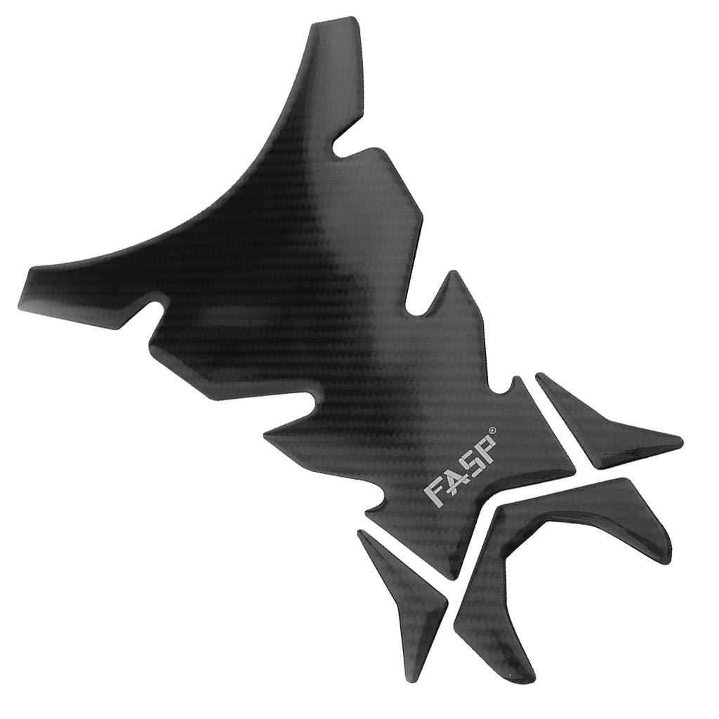 B Blesiya Carbon Fiber Motorcycle Motorbike Racing Fuel//Oil//Gas Tank Decals Vinyl and Gel Sticker Pad Gas Cap Tank Pad Protector T09 Universal