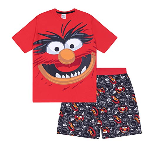 The Muppets Animal Official Gift Mens Short Pajamas Small
