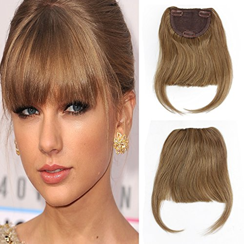 SinoArt Human Hair Front Clip-in Hair Bangs Full Fringe Short Straight Brazilian...