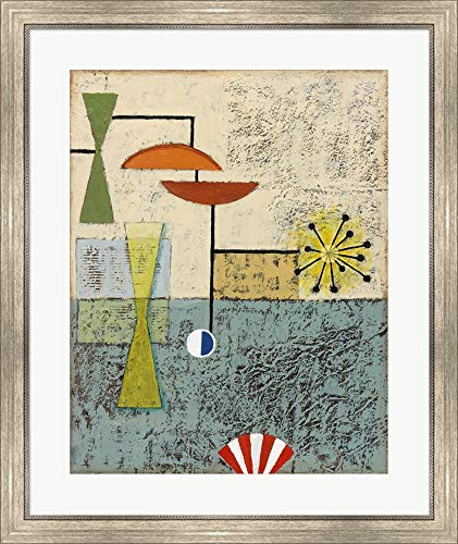 Sterling Cooper 5 by Rachel Paxton Framed Art Print Wall Picture, Silver Scoop Frame, 28 x 33 inches