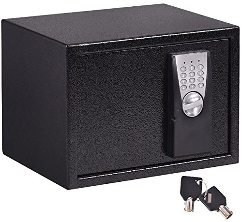 K&A Company Safe Keypad Digital Depository Box Lock Electronic Security Home Cash Drop Gun Jewelry Black Large Vault New Hotel Deposit Paragon 14'' by K&A Company