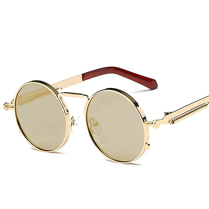 8951ab596c25b Image Unavailable. Image not available for. Color  Retro Round Sunglasses  ...