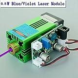 Industrial 405nm 0.8W 800mW Blue/Violet Laser Dot Module 12V w/UV Curing 3D Printing Laser