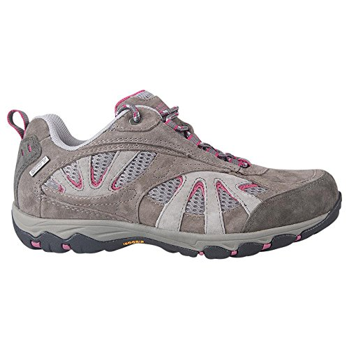 Mountain Warehouse Summit Womens Waterproof Shoes - Sturdy Grip Ladies Shoes, Quick Dry Walking Shoes, Wolverine Suede Hiking Shoes - 5000 Mile Guarantee - for Trekking Grey