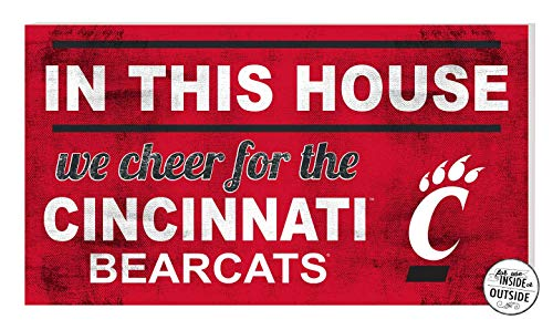 - KH Sports Fan 20x11 in\Outdoor Sign in This House Cincinnati Bearcats