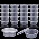 Augshy 40 Pack 2oz Slime Storage Containers with Lids Foam Ball Storage Containers