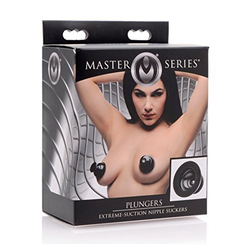 Master Series Plungers Extreme Suction Silicone Nipple Suckers With Free Bottle of Adult Toy Cleaner by XR