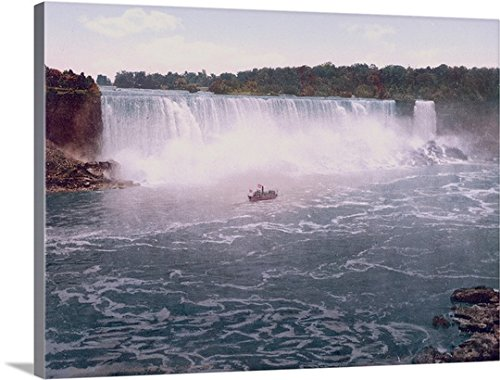 The Henry Ford Premium Thick-Wrap Canvas Wall Art Print entitled Niagara. American Falls from Canadian Shore - Niagara Falls Ford