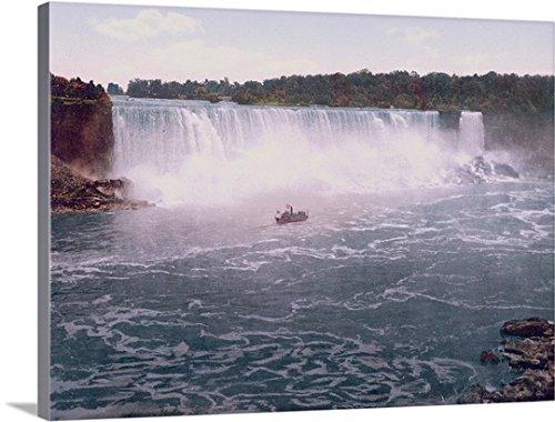 The Henry Ford Premium Thick-Wrap Canvas Wall Art Print entitled Niagara. American Falls from Canadian Shore - Niagara Ford Falls
