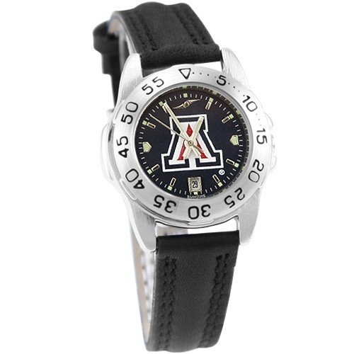 NCAA Arizona Wildcats Ladies Game Day Sport Leather AnoChrome Watch