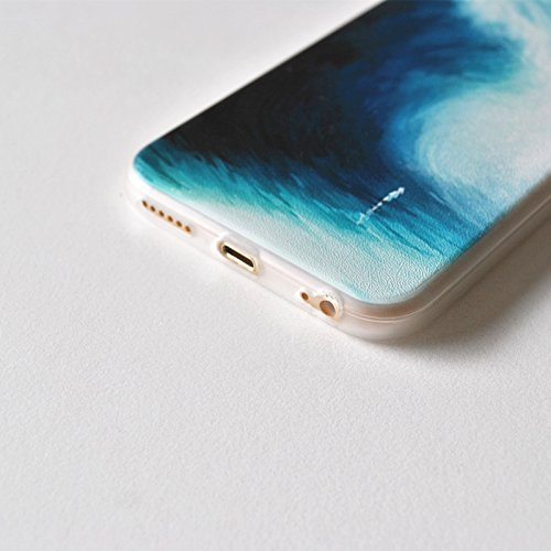 iPhone 6S Plus Coque en TPU souple, pictureslab Art Peinture Housse étui de protection pour Apple iPhone 6/6S Plus 14 cm