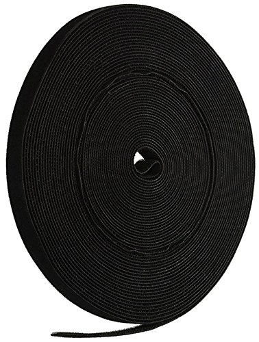 iMBAPrice Cable Fastening Tape - 0.75 inch Single Wrap Hook & Loop (75 feet) 25 Yards/Roll - Black by iMBAPrice