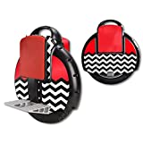 MightySkins Protective Vinyl Skin Decal for Airwheel X3 Self Balancing one wheel electric unicycle scooter wrap cover sticker Red Chevron