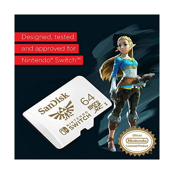 SanDisk 64GB microSDXC UHS-I Memory Card for Nintendo Switch - SDSQXAT-064G-GNCZN 4