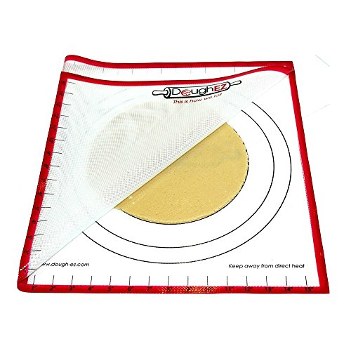 Dough EZ 7-Piece Non-Slip Silicone Pastry Mat and Guides Set
