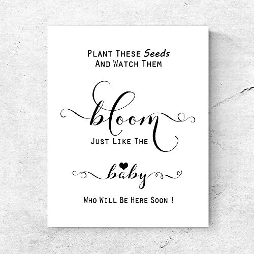 - Plant These Seeds and Watch Them Bloom Baby Shower Favor Sign Chic Seed Packet Favors Baby Shower Seed Packets Sign Baby Shower Seed Bombs Sign 8x10 Inches No Frame