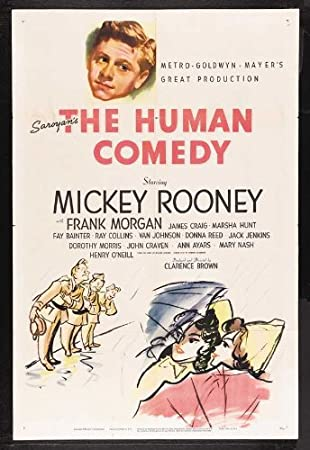 The human comedy Mickey Rooney vintage movie poster