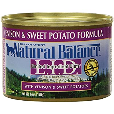 Natural Balance Venison Sweet Potato Formula Dog Food (Pack Of 12 6-Ounce Cans)