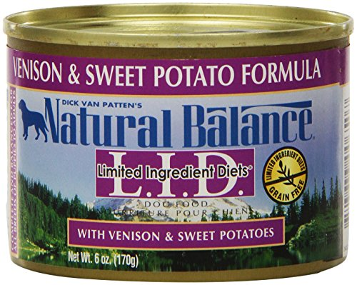 Natural Balance Venison Sweet Potato Formula Dog Food (Pack of 12 6-Ounce Cans) For Sale