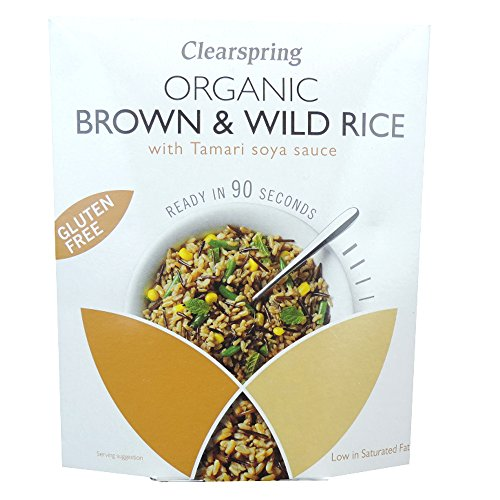 Clearspring - Organic Gluten Free Brown & Wild Rice with Tamari Soya Sauce - 250g (Case of 5) by Clearspring