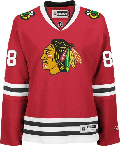 (NHL Chicago Blackhawks Patrick Kane Women's Premier Player Road Jersey, Red, Small )