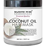 Restorative Coconut Oil Hair Mask to Condition and Revive Dry and Damaged Hair. Majestic Pure Coconut Oil Hair Mask is a rich, creamy natural treatment designed to hydrate and repair damaged hair. It restores and conditions weak, damaged, and...