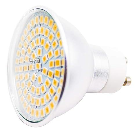 Bombillas LED GU10, 5 W, 80 x 2835 SMD, repuesto para 45 W