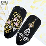 POYING Full Beauty 1pcs Gold Silver Series Nail Sticker Glitter Feather Cat Flower Summer Water Transfer DIY Tattoo Beauty Nail Art CHY