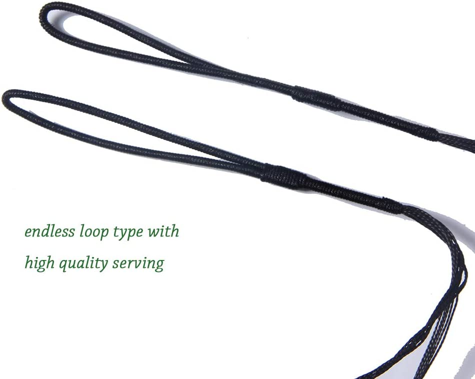 FlyArchery Archery Bowstring Replacment Dacron Bow String 45-68 Inches 12 Strands Actual Length for Traditional Recurve longbow