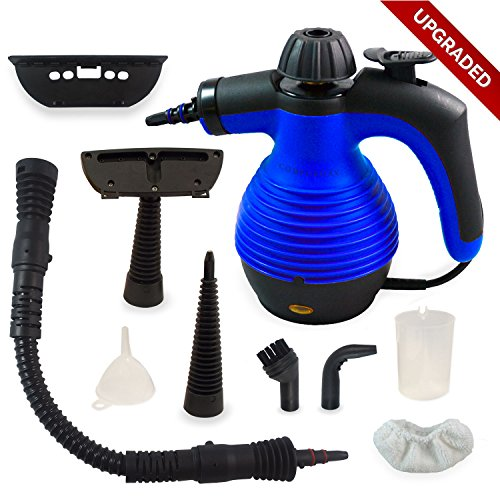 Find Bargain Handheld Multi-Purpose Pressurized Chemical Free Steam Cleaner with Safety Lock and San...