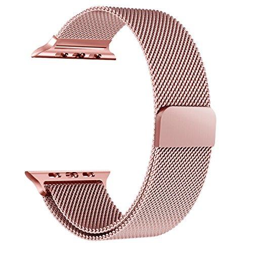 Jasinber Milanese Loop Correa de Acero Inoxidable Reemplazo de Banda de la Muñeca con Cerradura Magnética para 38mm Apple...
