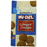 Mi-Del Gluten-Free Ginger Snaps, 8 Ounce Bags (Pack of 12) by Mi-Del