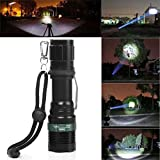 Heroing® New 3000 Lumen Zoomable CREE XM-L Q5 LED Flashlight Adjustable Focus Torch Zoom Super Bright Light Bild 1