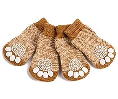 Pet Heroic Anti-Slip Knit Dog Socks&Cat Socks Rubber Reinforcement, Anti-Slip Knit Dog Paw Protector&Cat Paw Protector Indoor Wear, Suitable Small&Medium&Large Dogs&Cats by NingBo Pet Heroic supply co.,ltd