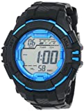 Armitron Men's 40/8302BLK Sport Metallic Blue Accented Black Resin Strap Digital Chronograph Watch, Watch Central