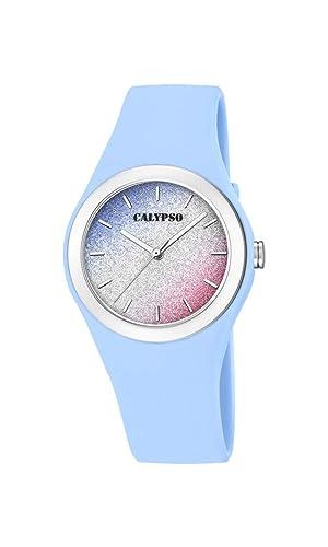Calypso Watches Reloj Analógico para Mujer de Cuarzo con Correa en Plástico K5754/4: Amazon.es: Relojes